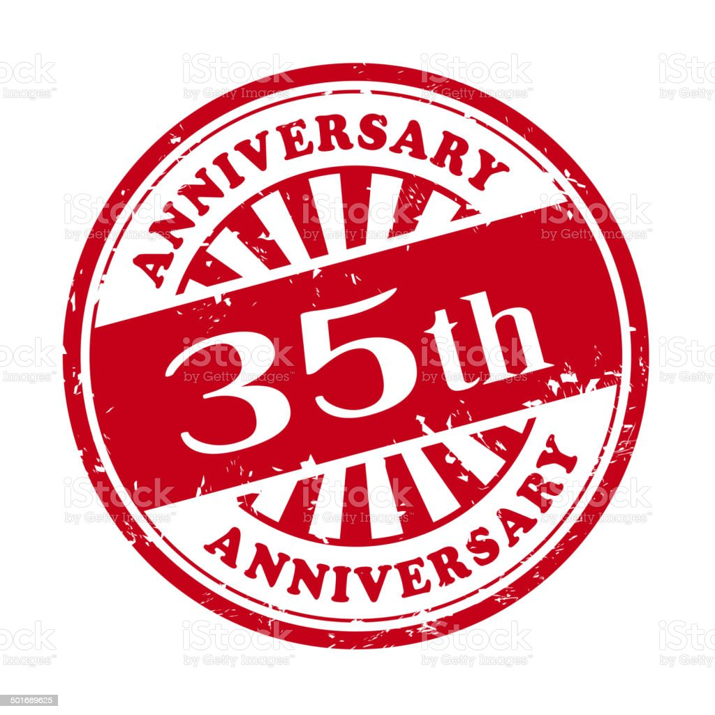 35th anniversary grunge rubber stamp royalty-free 35th anniversary grunge rubber stamp stock vector art & more images of anniversary