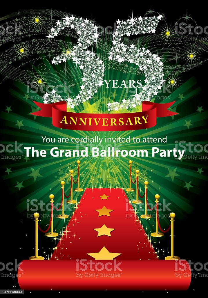 35th Anniversary Party royalty-free stock vector art