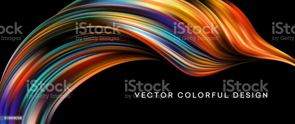 3d Abstract colorful fluid design. Vector illustration vector art illustration