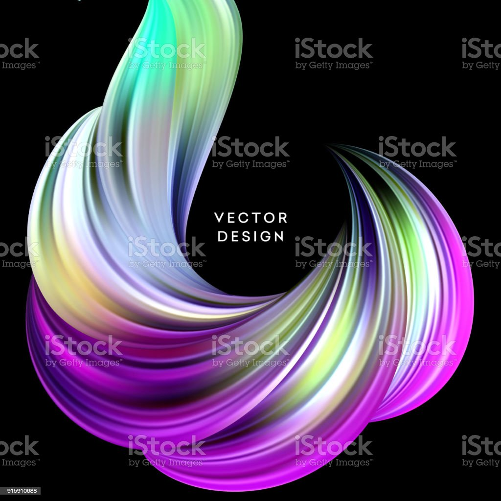 3d Abstract Colorful Fluid Design Vector Illustration ...
