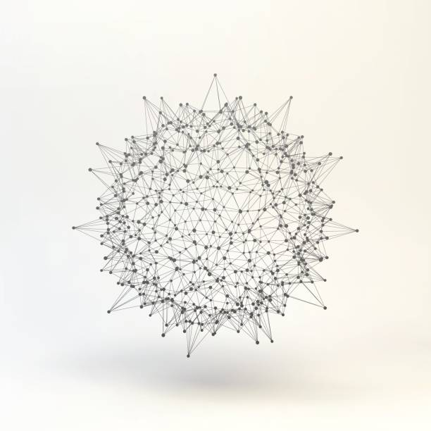 3d abstract sphere. - spiked stock illustrations