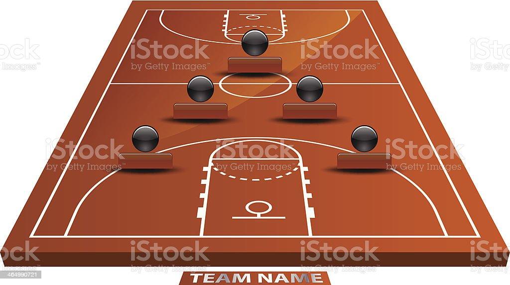 3d basketball court royalty-free stock vector art