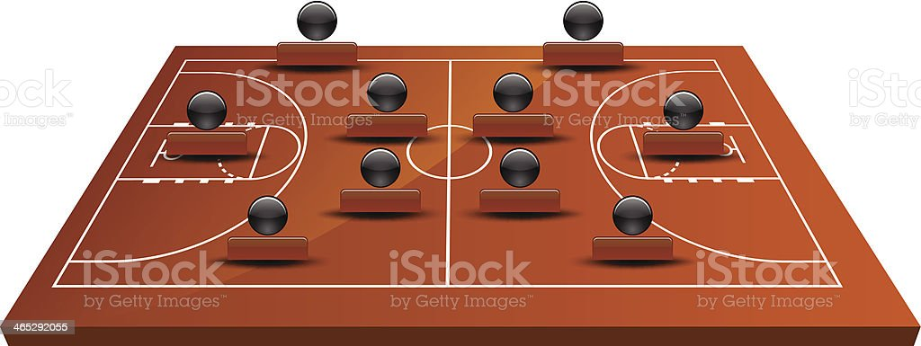 3d basketball court royalty-free 3d basketball court stock vector art & more images of backgrounds