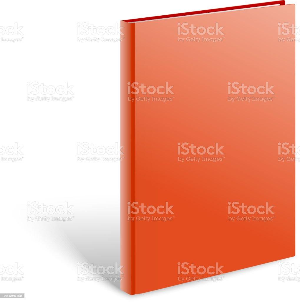 3 d 空白のハードカバーの本のベクトルのモックアップ紙の本の