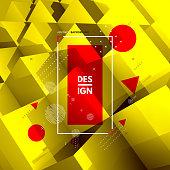 3d blocks structure background. Template for your design. Background for business presentation. Vector illustration.