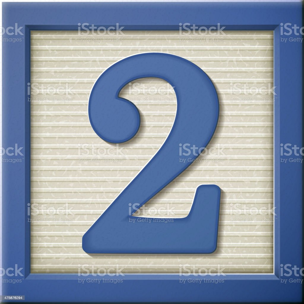 D Blue Number Block  Stock Vector Art  More Images Of