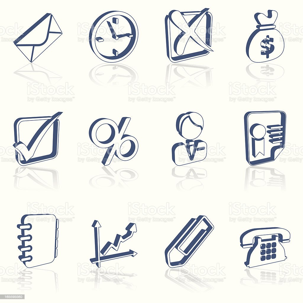 3d business icons royalty-free 3d business icons stock vector art & more images of bag