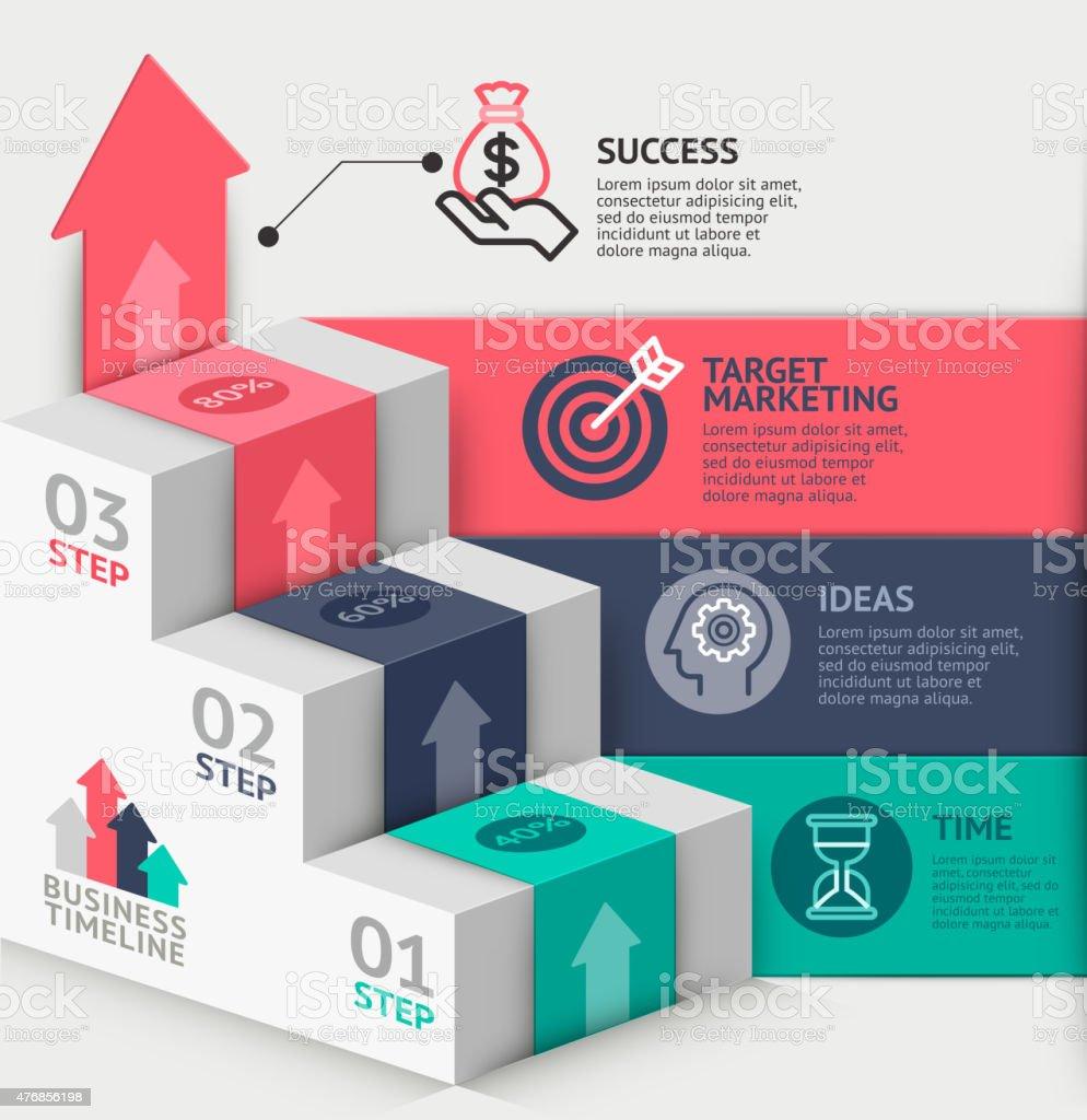 3 D Businesstreppe Diagramm Vorlage Stock Vektor Art und mehr Bilder ...