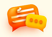 istock 3d Chat bubble. Talk, dialogue, messenger or online support concept. concept. 1177008046
