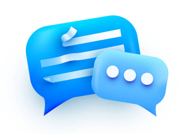 3d Chat bubble. Talk, dialogue, messenger or online support concept. concept. 3d Chat bubble. Talk, dialogue, messenger or online support concept. concept. Vector illustration verbaasd stock illustrations