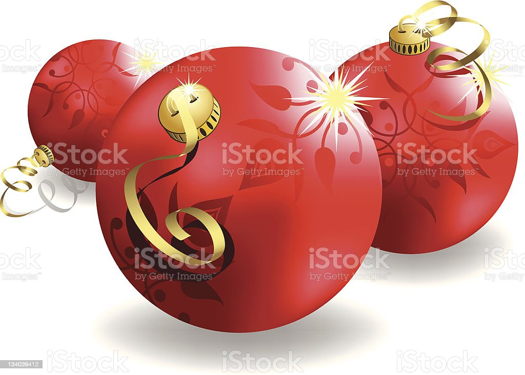 3d christmas ornaments royalty-free stock vector art