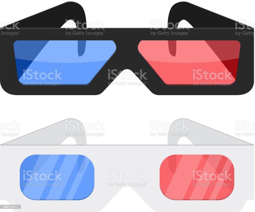 Cinéma 3D lunettes - Illustration vectorielle