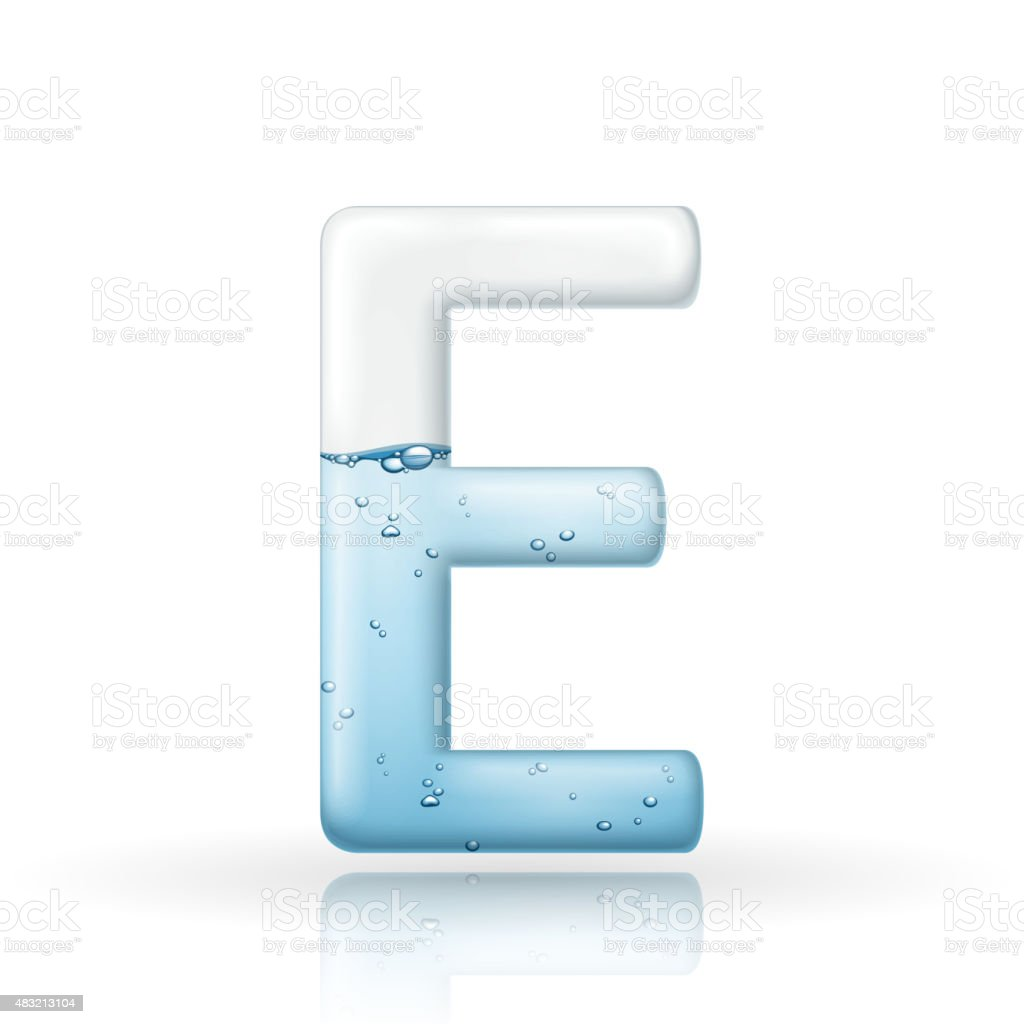 D Clean Water Letter E Stock Vector Art  More Images Of