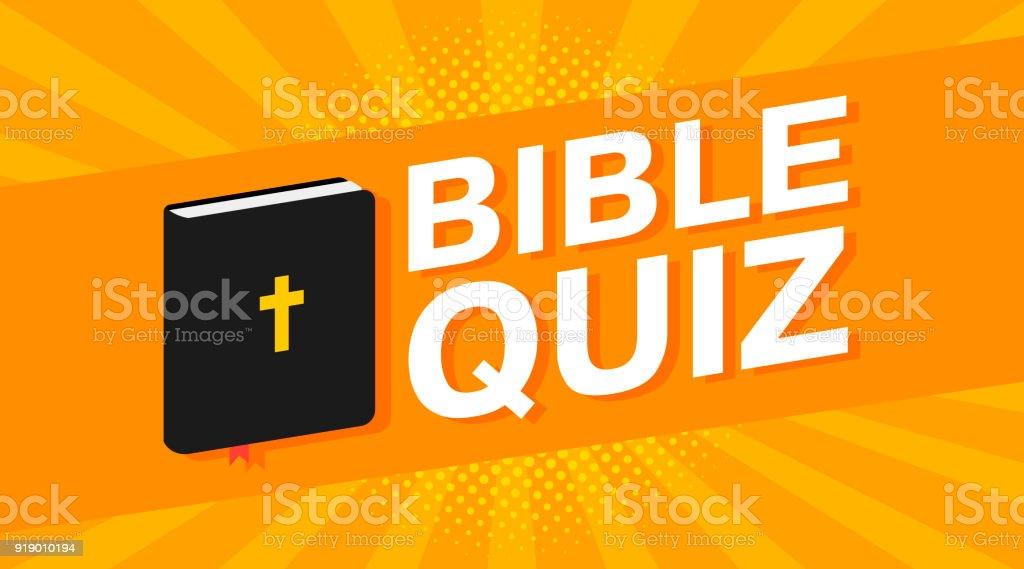 texto de concurso Biblia colorido 3D sobre pop art de los rayos de fondo. Vector de - ilustración de arte vectorial
