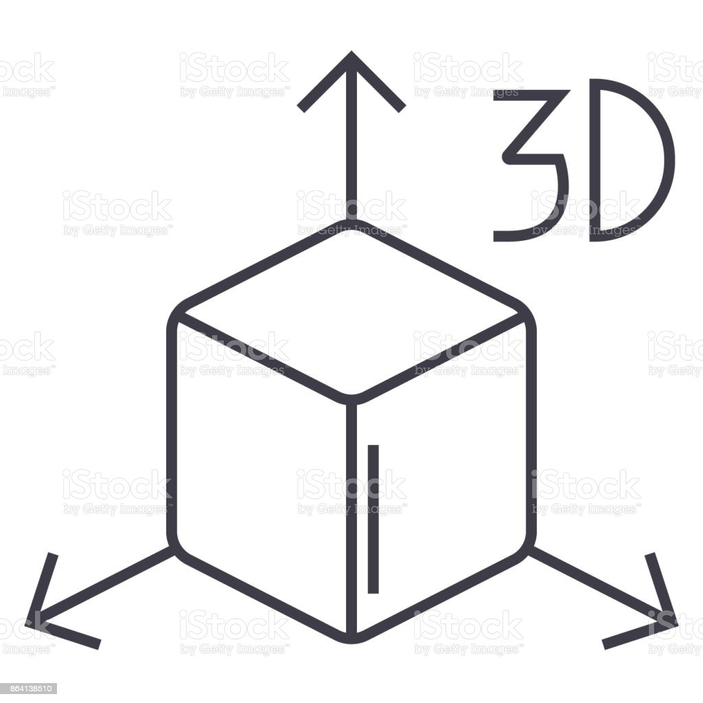 3d cube  icon, vector illustration, sign on isolated background royalty-free 3d cube icon vector illustration sign on isolated background stock vector art & more images of 3d printing
