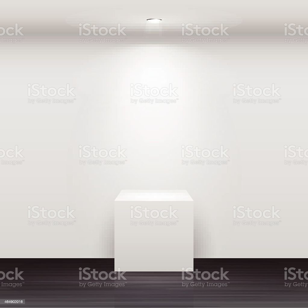 3d Empty white stand for your exhibit vector art illustration