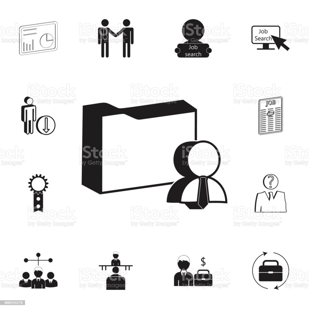 3d Folder Of Employee Documents Icon Detailed Set Of Hr Heat Hunting