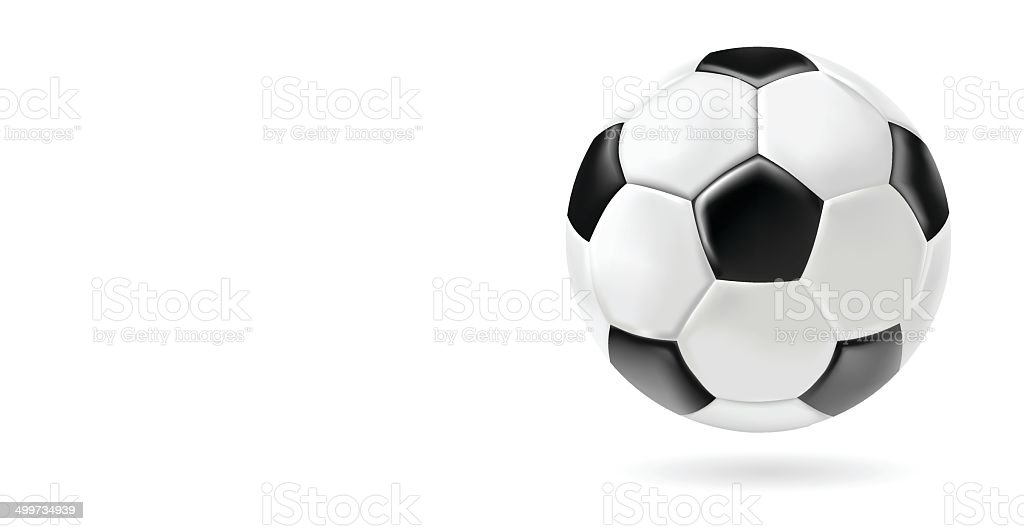 3d football isolated vector art illustration