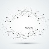 3d geometric vector background for business or science presentation