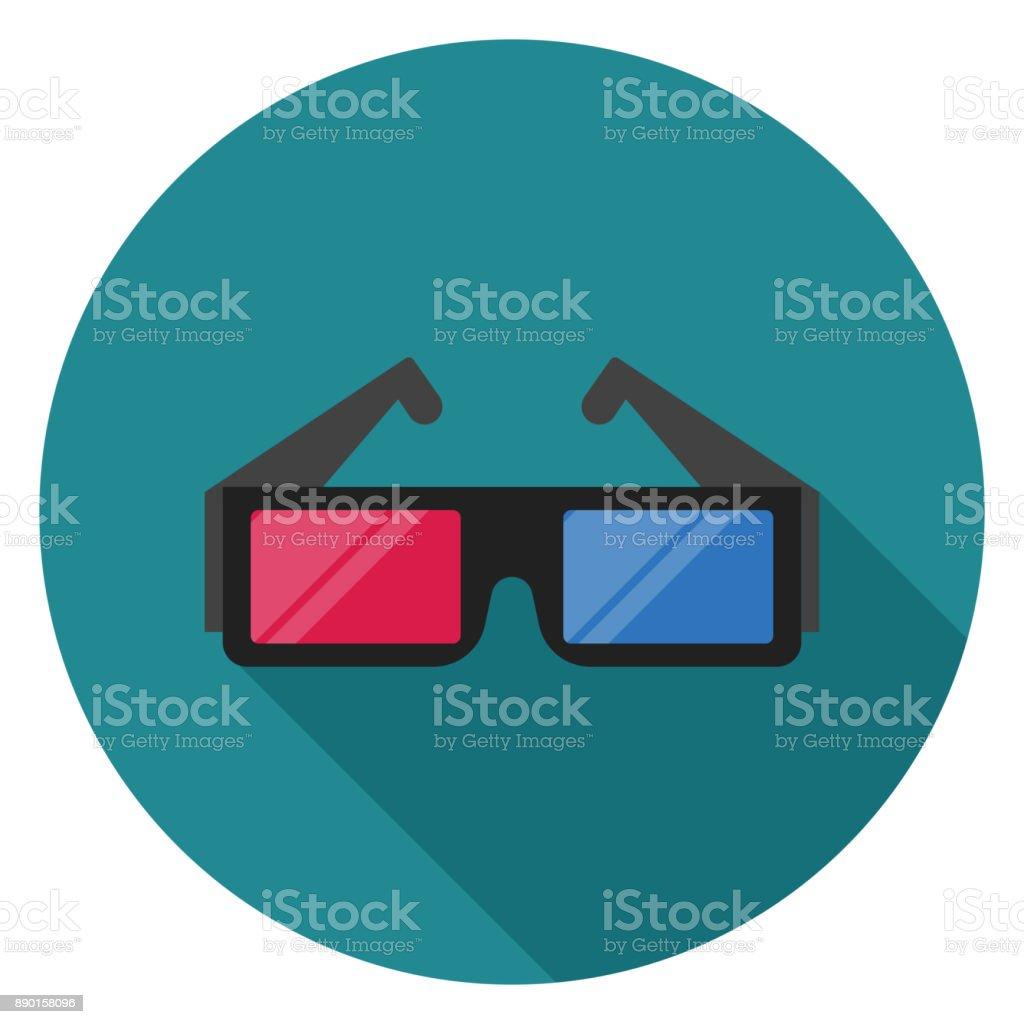 3D Brille-Symbol. – Vektorgrafik