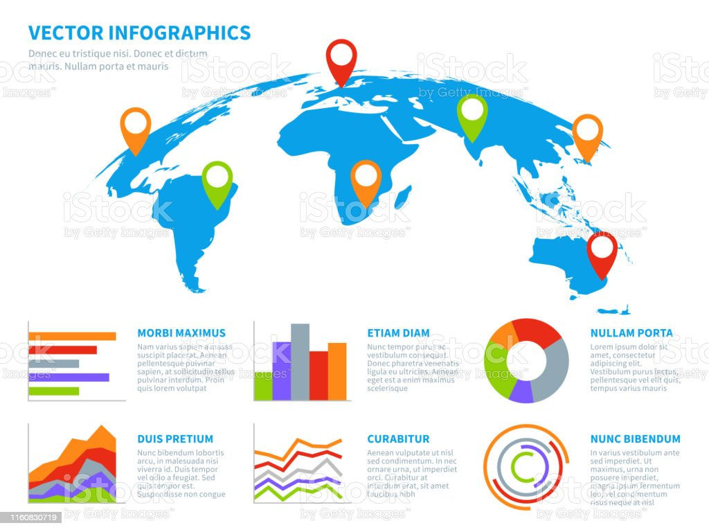 3d Globe Infographics World Map Information Graphic ...