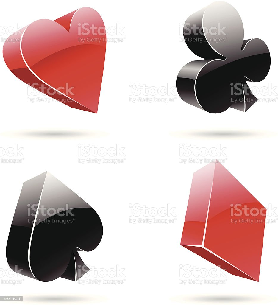 3d glossy playing card suits royalty-free 3d glossy playing card suits stock vector art & more images of abstract