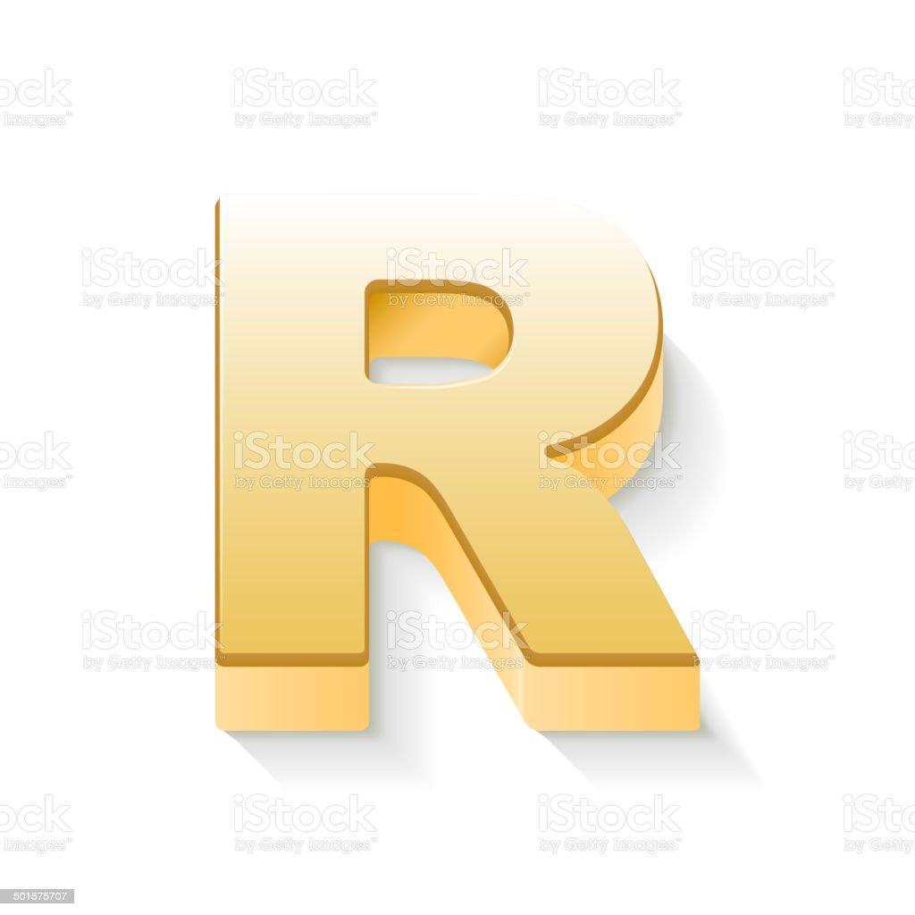 3d golden letter r stock vector art more images of abstract 3d golden letter r royalty free 3d golden letter r stock vector art amp thecheapjerseys Images