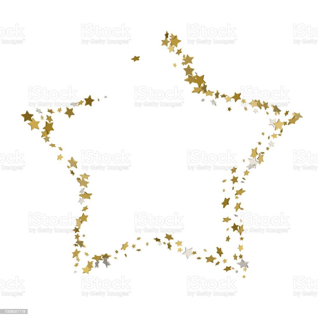 3d Goldene Sterne Vektorbanner Einfache Form Vorlage Karte Vip ...