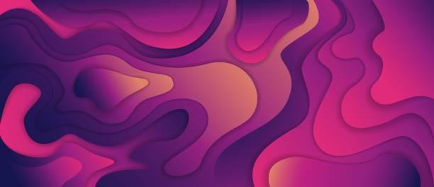 3d gradient background dynamic pink colorful liquid wave element minimal design 3d gradient background dynamic pink colorful liquid wave element minimal design abstract poster. Futuristic colourful fluid vector graphic illustration banner color curve backdrop active lifestyle stock illustrations