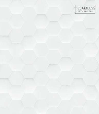 3d Hexagon polygonal seamless vector pattern,