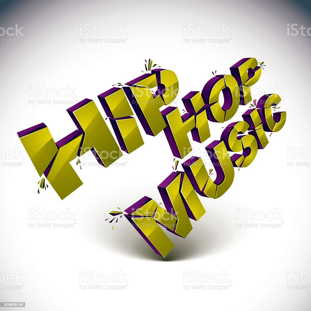 3d hip hop music word broken into pieces demolished vector stock 3d hip hop music word broken into pieces demolished vector royalty free 3d hip biocorpaavc
