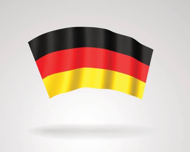 3d symbol der nationalflagge der bundesrepublik deutschland - kanzlerin stock-grafiken, -clipart, -cartoons und -symbole