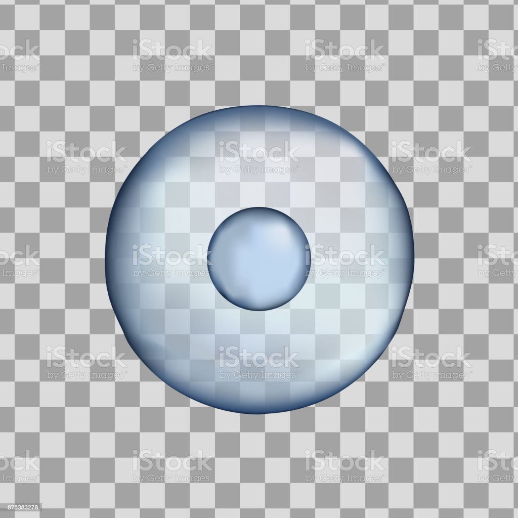 3d Isolated human blue cell. Realistic vector illustration. Template for medicine and biology vector art illustration