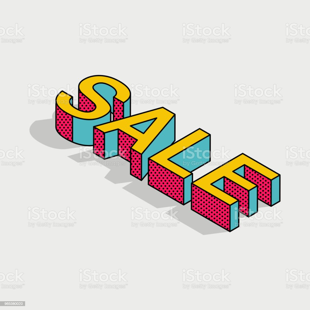 3d isometric pop art sale text royalty-free 3d isometric pop art sale text stock vector art & more images of business