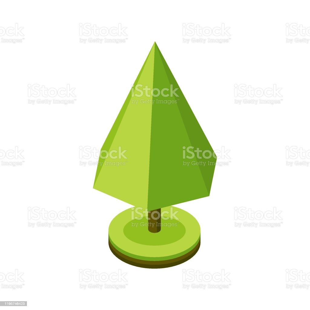 3d isometric stylized green tree city plant geometric pyramid shape icon for isometric maps games and design vector illustration stock illustration download image now istock https www istockphoto com vector 3d isometric stylized green tree city plant geometric pyramid shape icon for gm1195746423 340918168