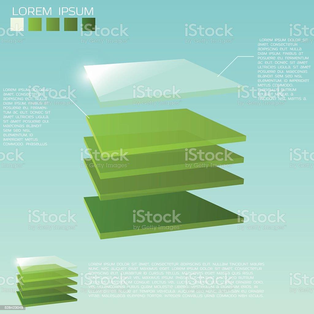 3d layers background vector art illustration