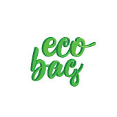 3d lettering Eco bag. Vector illustration
