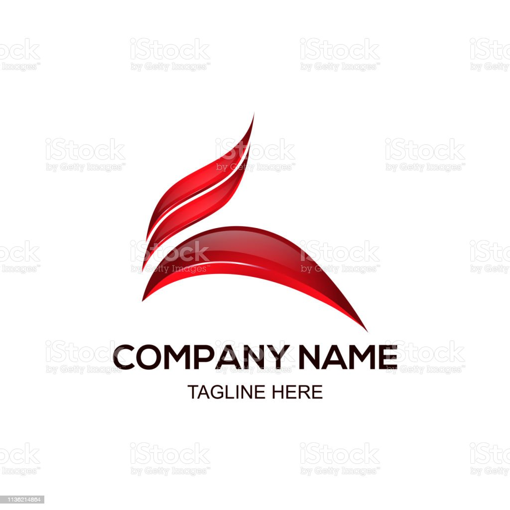 3d Logo Design Red Color On White Background Stock Illustration