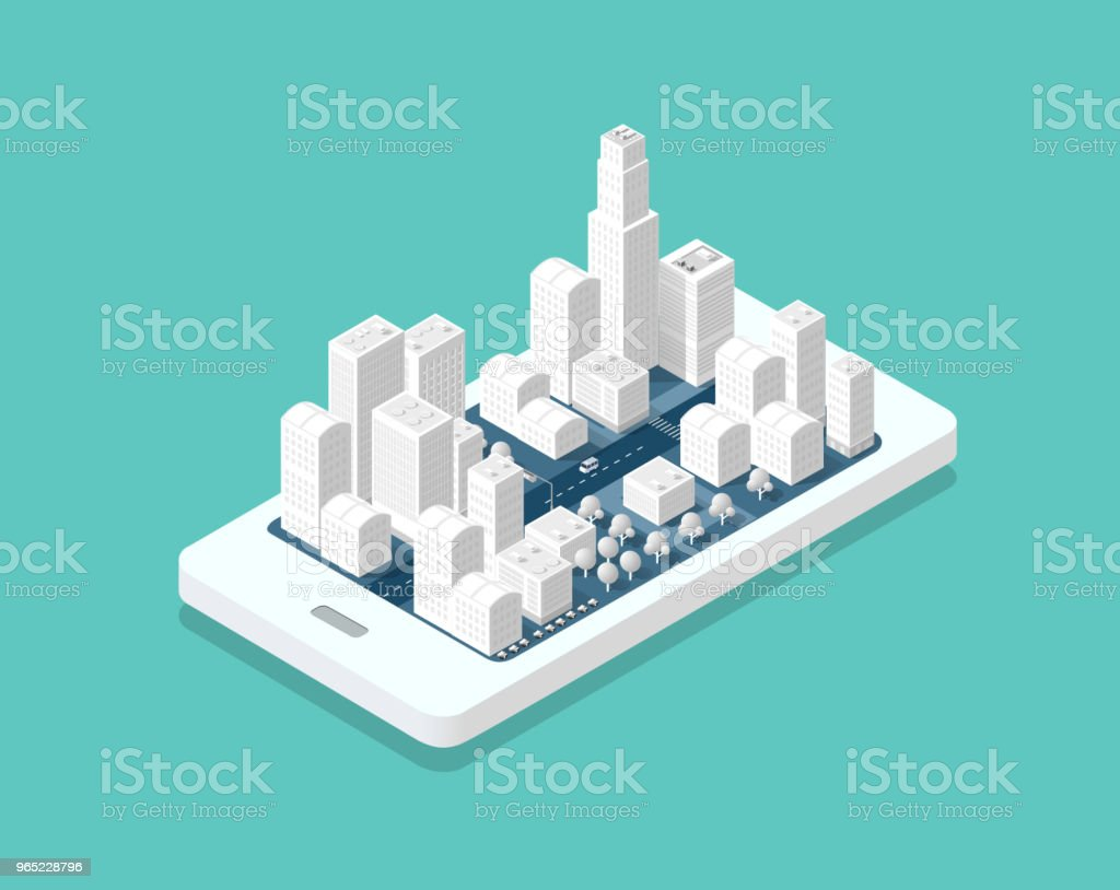 3d map isometric city royalty-free 3d map isometric city stock vector art & more images of architecture