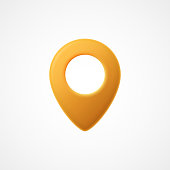 3d Map pointer icon. Map Markers. Vector illustration