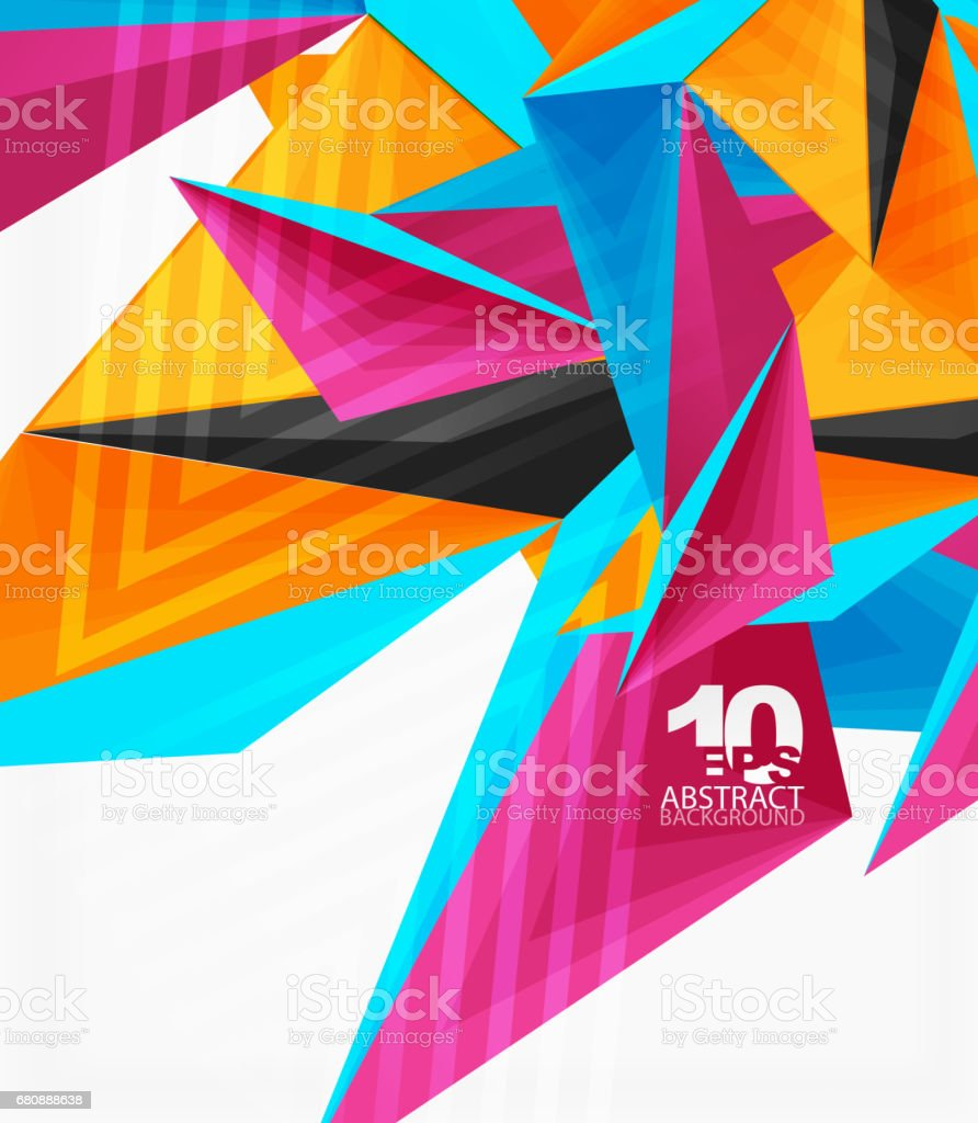 3d modern triangle low poly abstract geometric vector royalty-free 3d modern triangle low poly abstract geometric vector stock vector art & more images of abstract