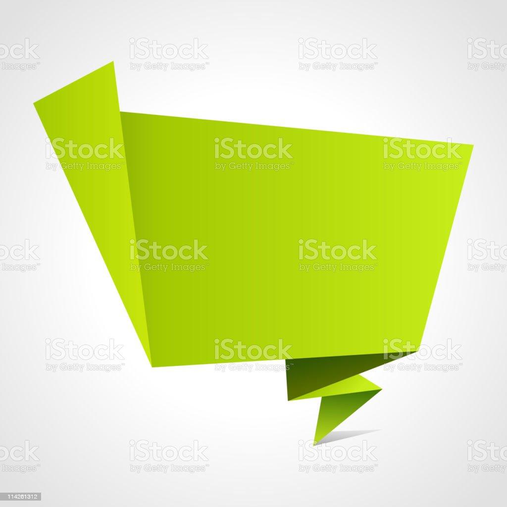 3d origami speech bubble vector background royalty-free stock vector art