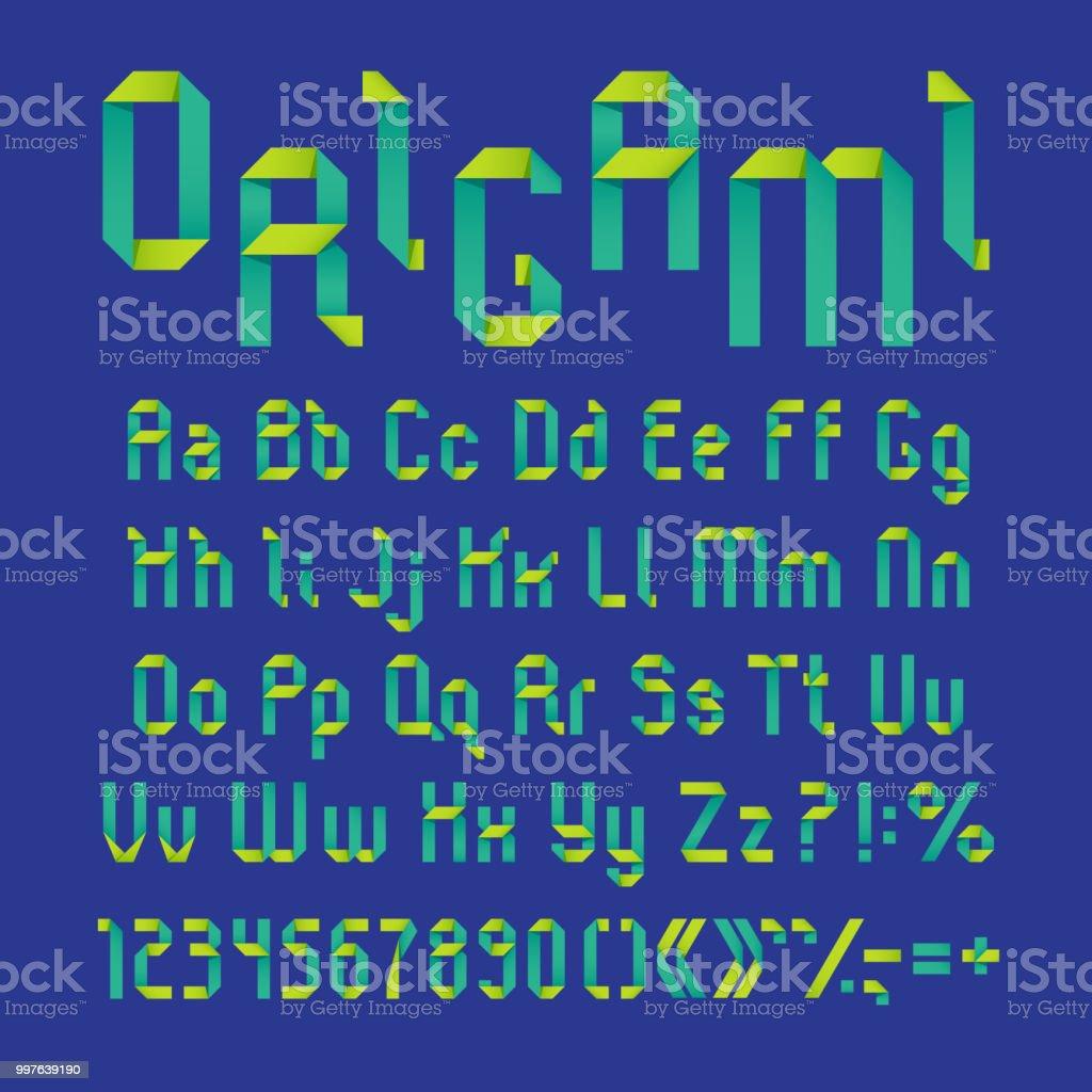Origami alphabet / Boing Boing | 1024x1024