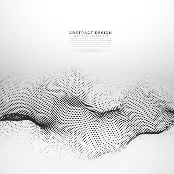ilustrações, clipart, desenhos animados e ícones de malha de arame de partícula 3d vector fundo - organic shapes