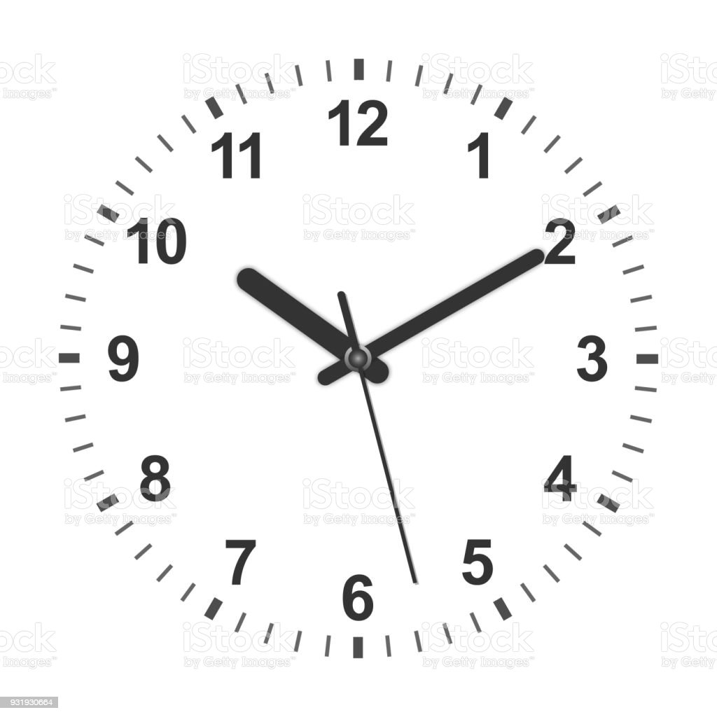 3d realistic clock vector art illustration