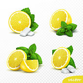 Lemon portion on white background. Detailed clipping path included.Related pictures:
