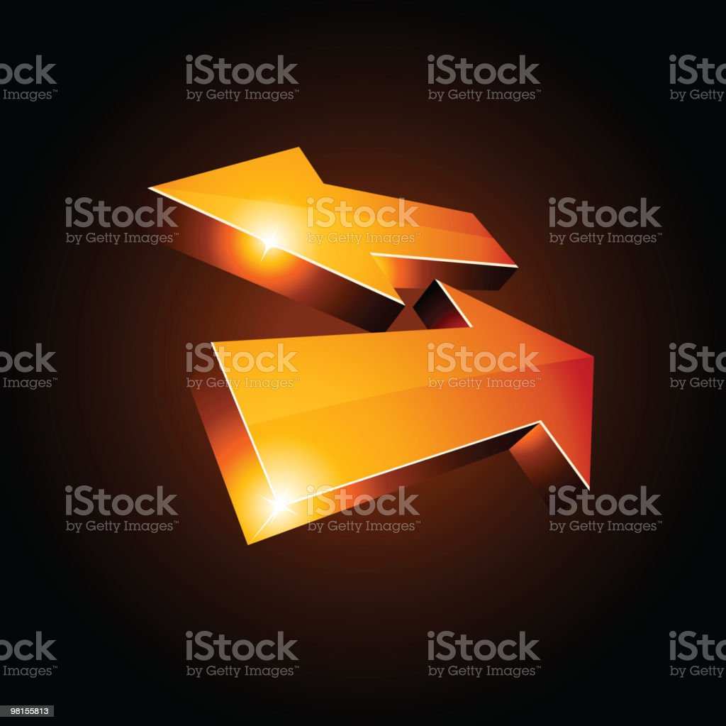 3d return arrows. royalty-free 3d return arrows stock vector art & more images of arrival