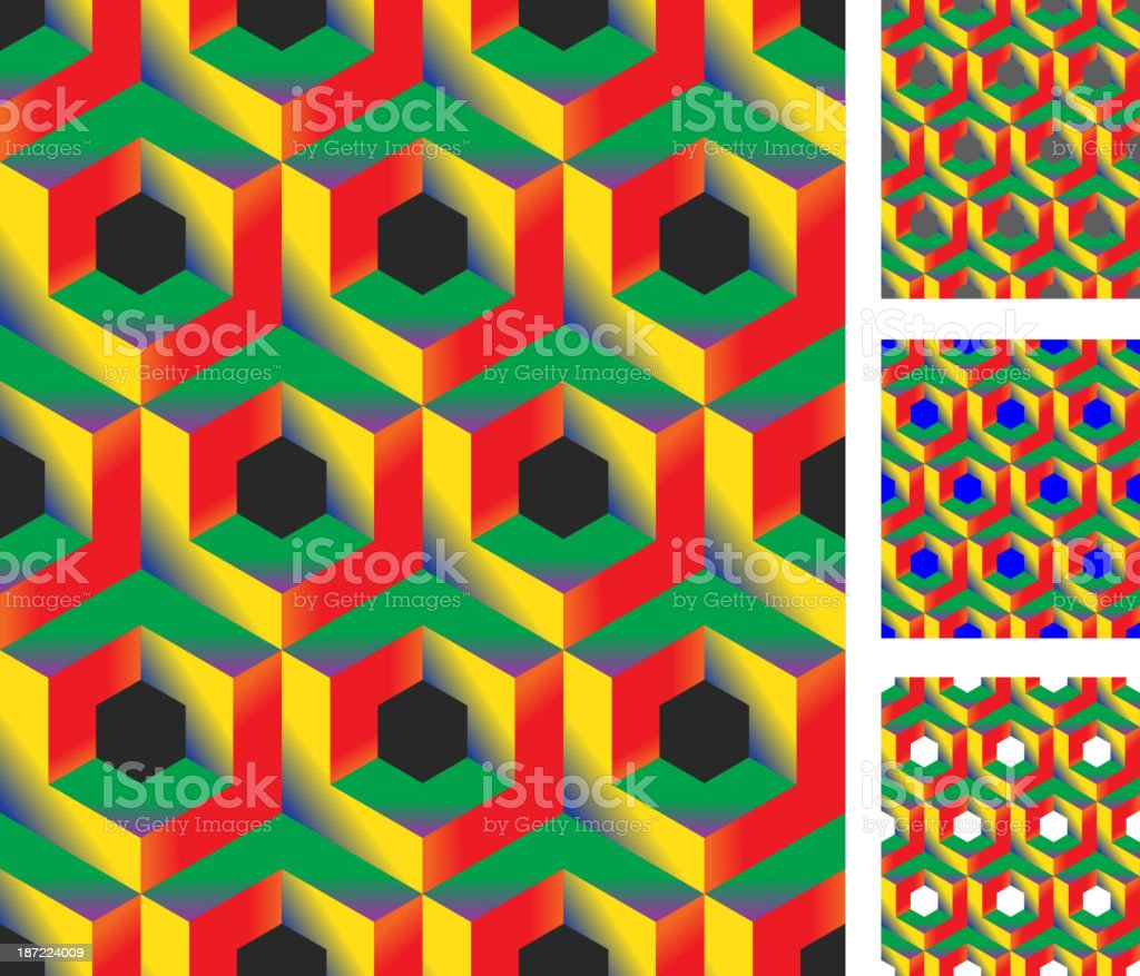 3d  seamless pattern royalty-free stock vector art