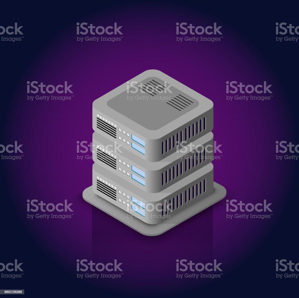 3d server network technology 3d server network technology - stockowe grafiki wektorowe i więcej obrazów biznes royalty-free