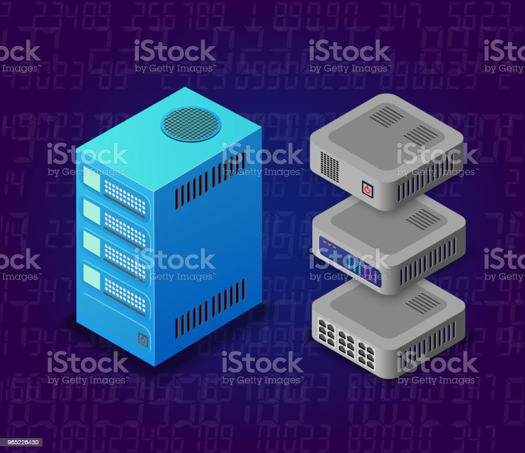 3d server network technology royalty-free 3d server network technology stock vector art & more images of backgrounds